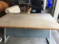 "60"" adjustable, wood tilt-top drafting table Germantown"