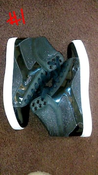 pair of black-and-white high top sneakers Middletown, 45044