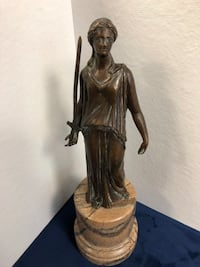 "15"" bronze woman figurine with sword on marble base Toronto, M2R 3N1"