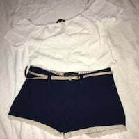 forever 21 crop top size L , and agaci shorts size S Edcouch, 78538