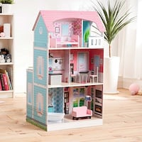 Brand New Posh 2-in-1 Kitchen Doll House by Kid Craft  623 km