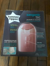 Poubelle a couches ,rose ,tommee  tippee  neuve