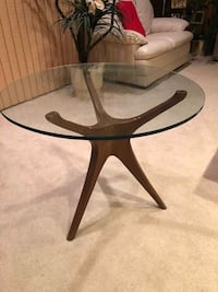 Mid Century Modern wood Table with glass top  Silver Spring, 20904