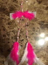 pink and white feather dream catcher Quebec, H9H 3Y7