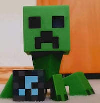 Minecraft Creeper Toy With Block