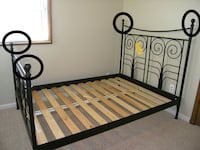 Ikea Double Black Wrought Iron Bed Frame / Free Delivery Toronto, M1L 3M8