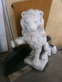 A PAIR OF MARBLE LIONS Merced, 95340