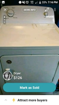 white front-load clothes dryer screenshot Aylett, 23009