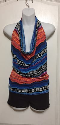 Halter Plunging Top: Size Small
