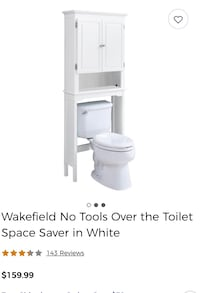 Brand new bathroom space saver and wall cabinet in black or white for $160 each cost $160 so from the jn store both cost $340 I'm asking for $160 thanks Rockville, 20851