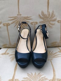 Black leather high heels by Jessica Simpson, size 8 San Diego, 92037