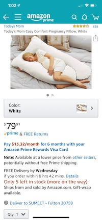 Pregnancy Comfort Pillow Fulton, 20759