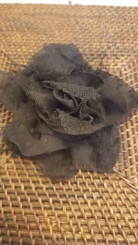 black rose hair accessory