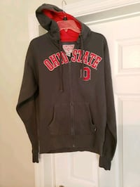 Ohio state zipup jacket. size medium mens  medium gray in color