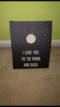 I love you to the moon and back sign Virginia Beach, 23452