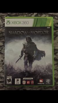 Xbox 360 Shadow of Mordor game case Hanford
