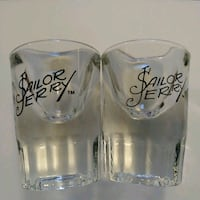 2 Sailor Jerry spiced rum shot glasses. Like new. Edmonton, T6X 1G7