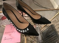 Zara Heels Size 40 Ambitious & Unstoppable Black Leather Chicago, 60610