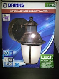 New outdoor security light