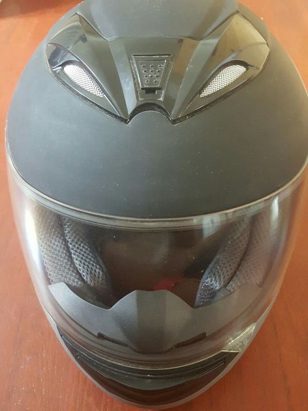 Full face motorcycle helmet.