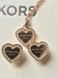 Michael Kors earrings and matching necklace (worn once) Newport, 48166