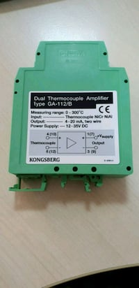 KONGSBERG THERMOCOUPLE AMPLIFIER