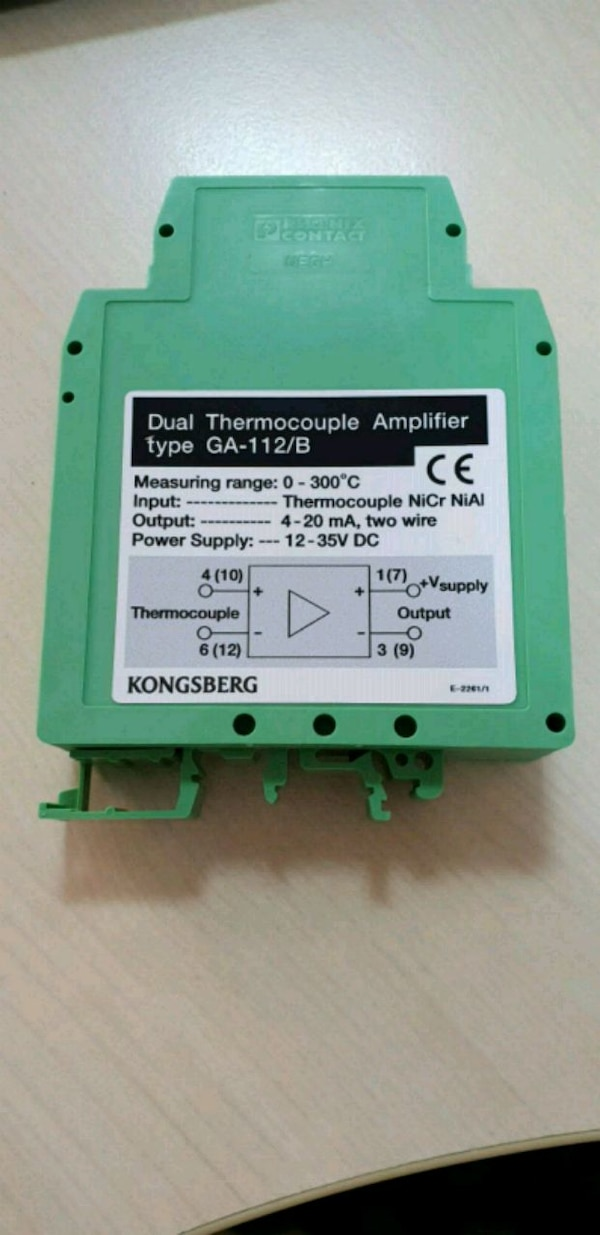 KONGSBERG THERMOCOUPLE AMPLIFIER 0