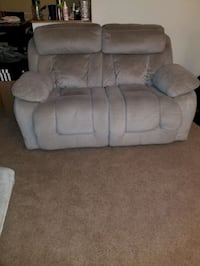 Grey fabric sofa Sectional and Loveseat