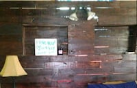 King-size headboard made out of pallets has Outlet Limestone County