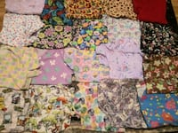 assorted color floral print textile