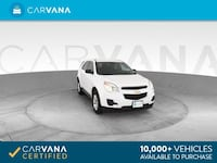 2013 Chevy Chevrolet Equinox suv LS Sport Utility 4D WHITE Brentwood