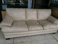 white leather 3-seat sofa Hollywood, 33024