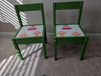 Pair of toddler chairs