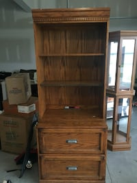 brown wooden cabinet with shelf Gretna, 68028