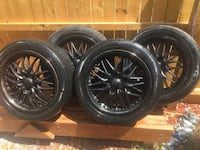 Set of Black Rims / Tires 17""