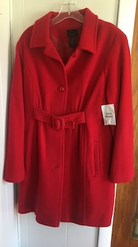 NEW!!! Red 80% Wool, 20% Nylon Coat/ Size 12 Holland, 49423