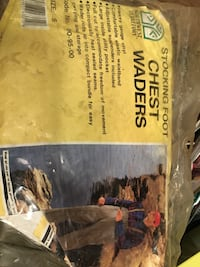 Stocking foot waders size Small
