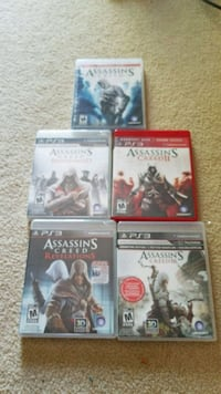 5 Assassins Creed series ps3 games Mississauga, L5A