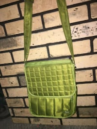 green and brown leather crossbody bag Lethbridge, T1H 2P2
