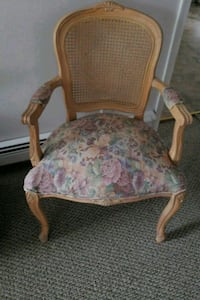 brown wooden framed pink and green floral padded armchair Somers Point, 08244
