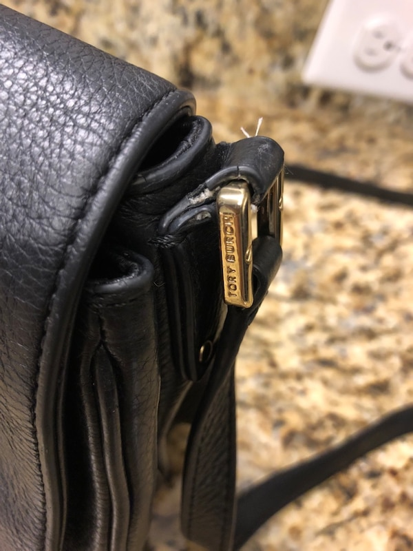 Black leather Tory Burch Purse