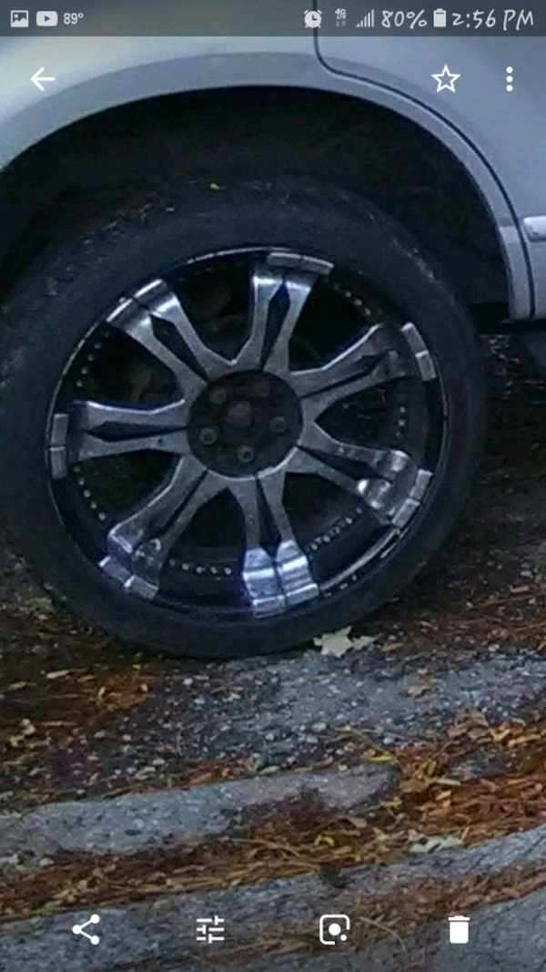 22 inch rims decent tires