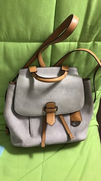 Gray and brown leather crossbody bag Evanston, 60201