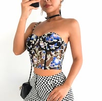 Bustier crop top corset boob tube vintage floral embroidery Gaithersburg, 20879