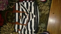 black and white stripe tote bag Baton Rouge, 70802