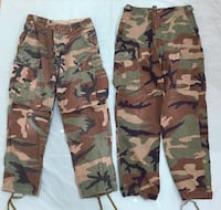 WOODLAND CAMO US MILITARY TROUSERS (4 PAIR) SEE DESCRIPTION FOR PRICES Guilford, 17202