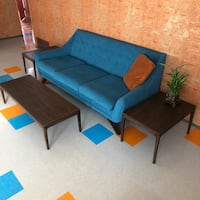 Vintage Mid Century Coffee Table and Side Tables