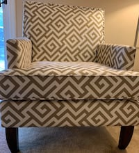 white and black chevron print ottoman Capitol Heights, 20743
