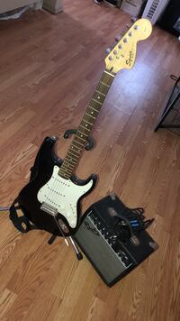 Black and white electric guitar // amp also included Summerville, 29485