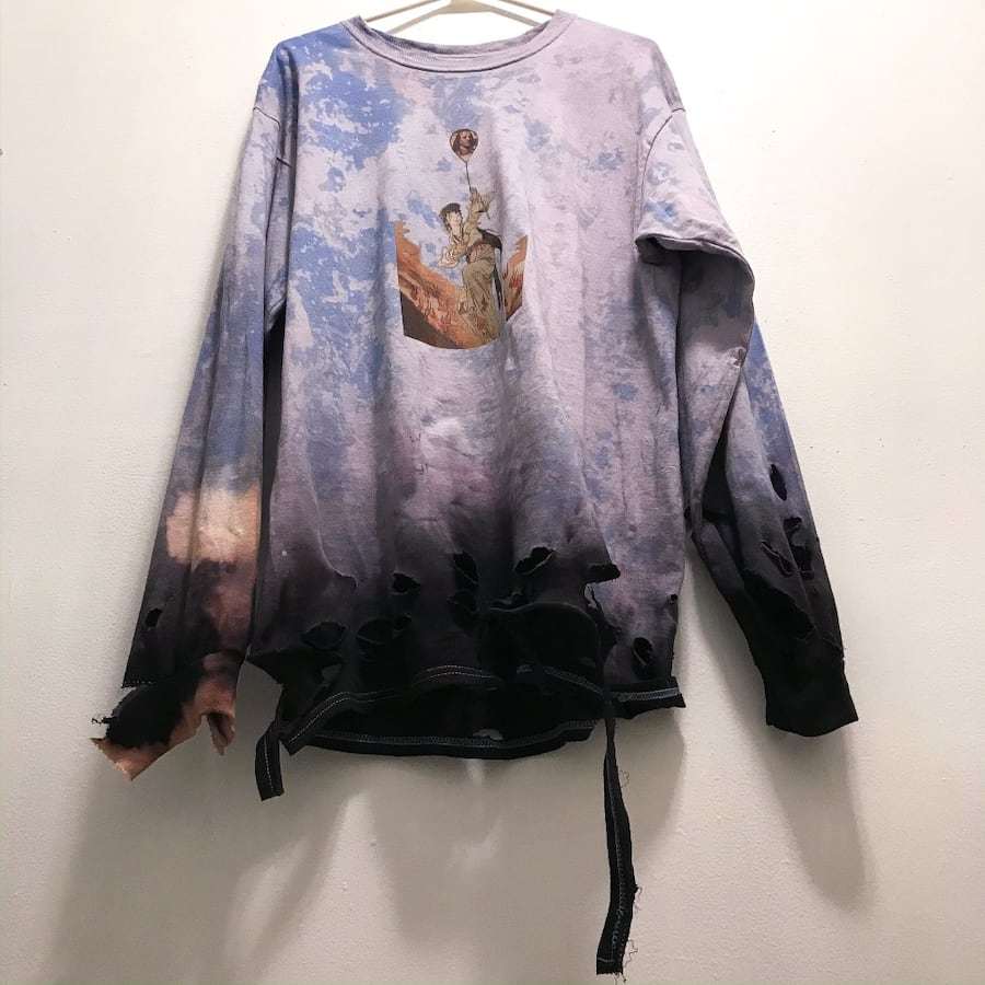 Ombré distressed mistress NIZAZIZA crewneck